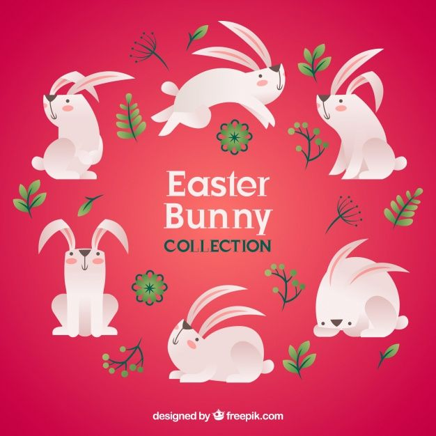 Download Download Flat Easter Bunny Collection for free