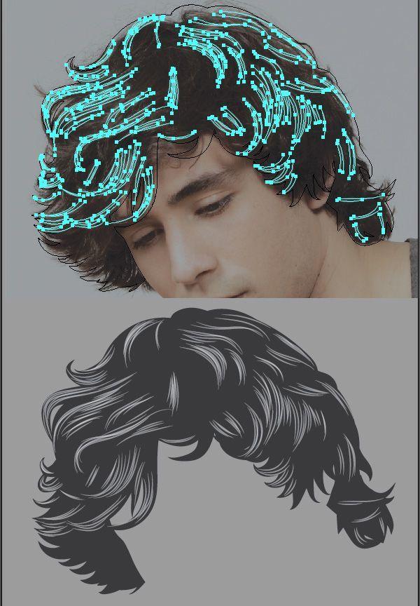 How to Render Short, Detailed Hair in Adobe Illustrator - Tuts+ Design & Illustration Tutorial KEY STROKES
