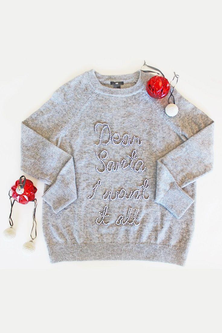 Funny Santa Costume Sweater Oversized. Dear Santa Let Me Explain Christmas Off Shoulder Sweatshirt