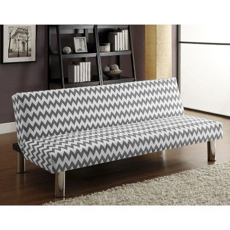 Chevron Sofa Bed Gray/White   Dorel : Target