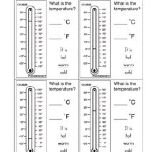 Temperature Worksheet 1 | Measurement worksheets, Worksheets and ...