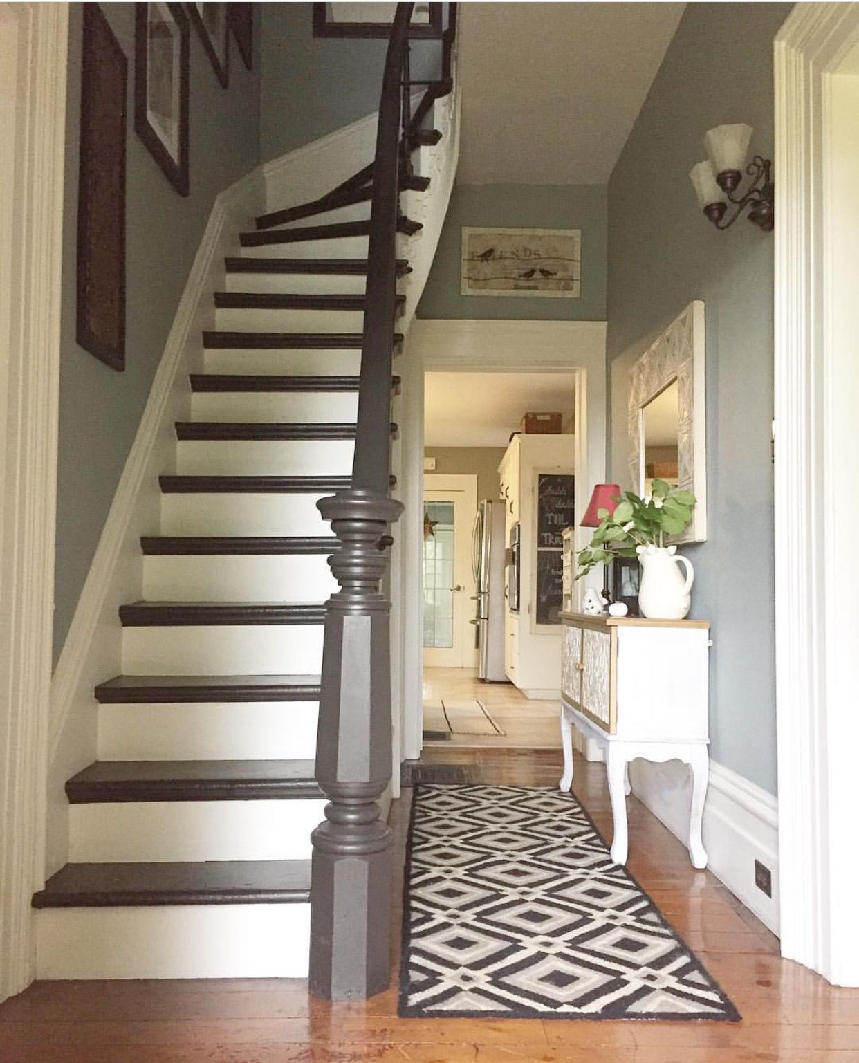 Top 70 Best Painted Stairs Ideas: Pin By M. On Farmhouse & Farm Living