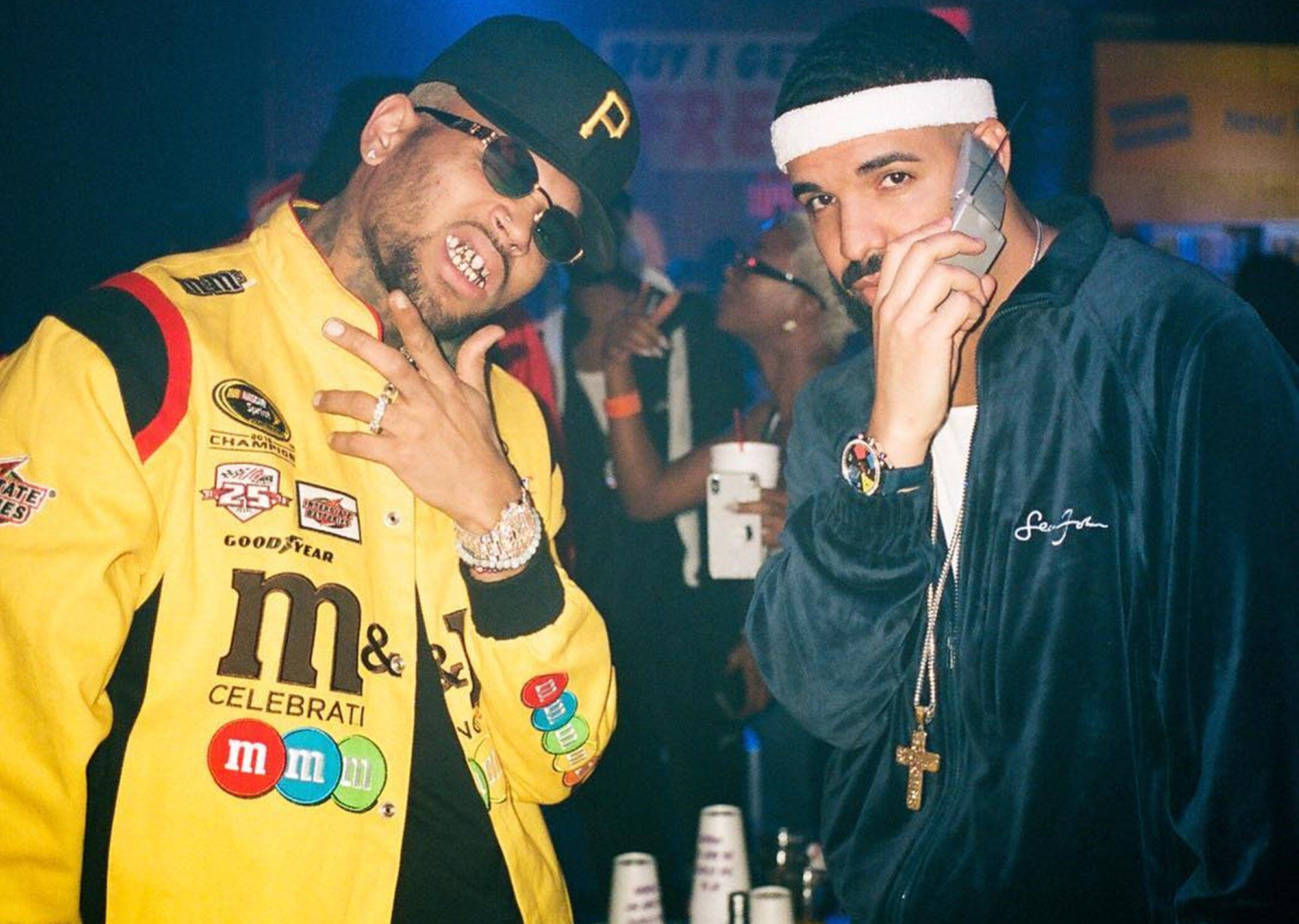 Drake Poses With Chris Brown In Picture From His Birthday Bash How Does Rihanna Feel About The Bromance Chris Brown Party Breezy Chris Brown Chris Brown Wallpaper