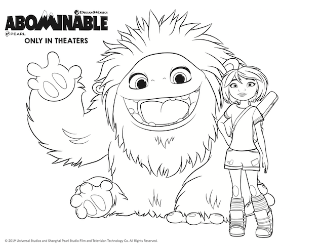 Abominable Coloring Page Coloring Pages Art Drawings Simple Drawings