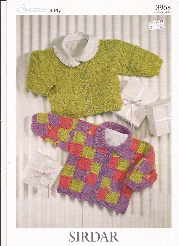 Sirdar Snuggly 4 Ply Knitting Pattern 3968 Cardigans By Brokemarys
