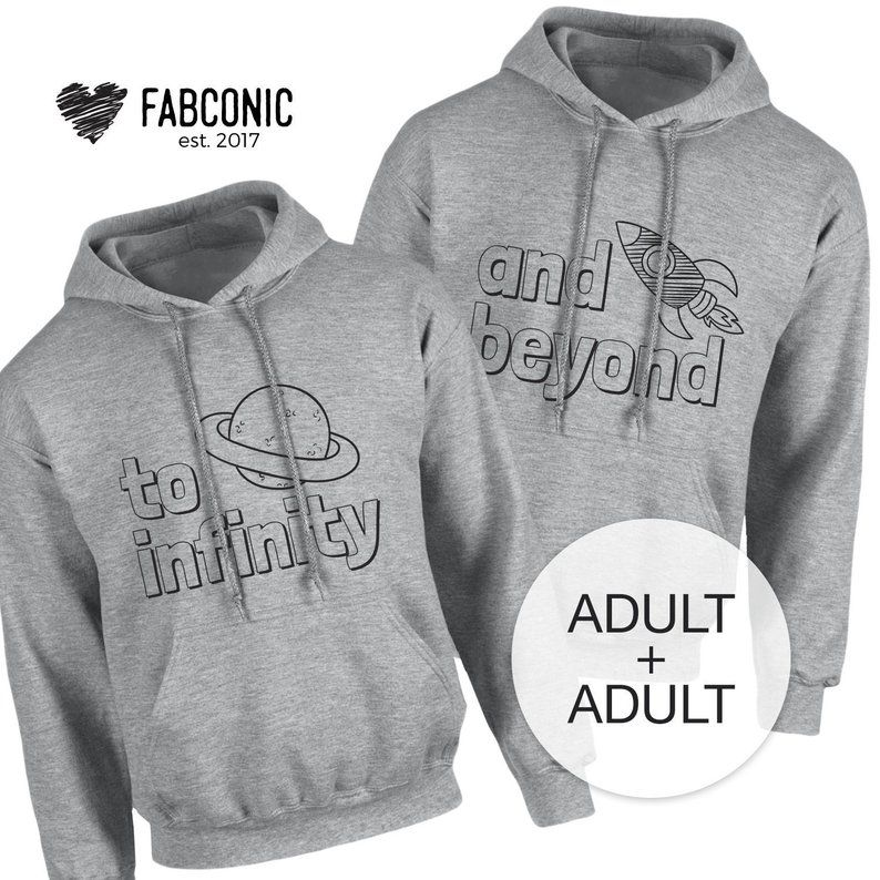 To Infinity and Beyond Couples Hoodies, Matching Hoodies
