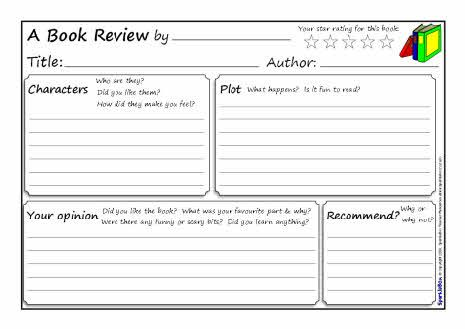 A Book Review Writing Frame Sb  Sparklebox  Book Review