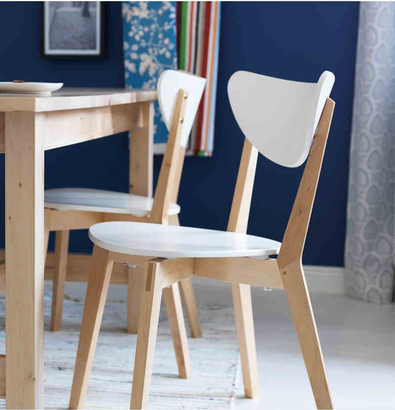 Wooden Sturdy Chair Dining Chair Chair Wooden White Nz 79 90