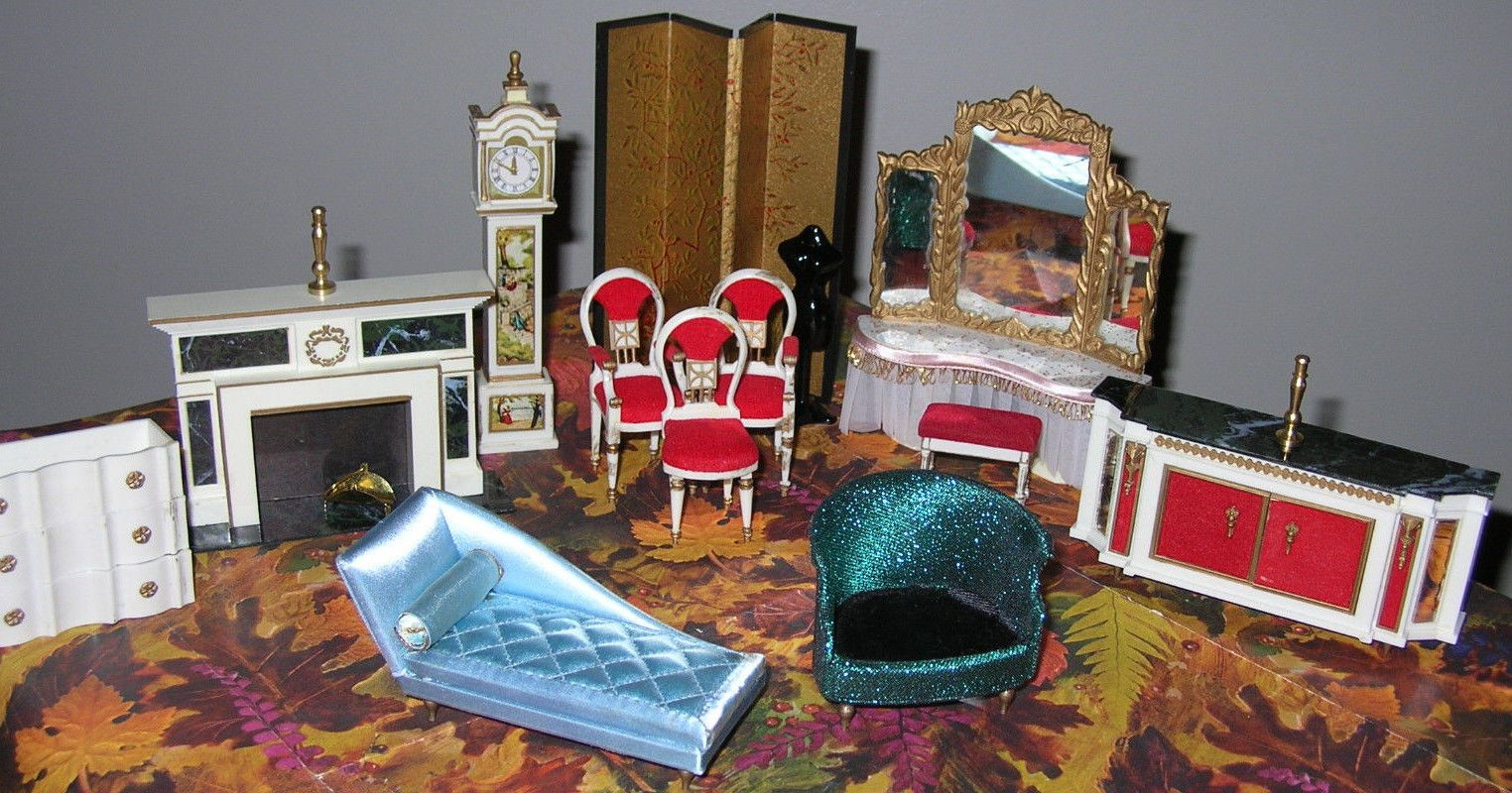Lot Of Vintage Ideal Petite Princess Doll House Furniture | EBay