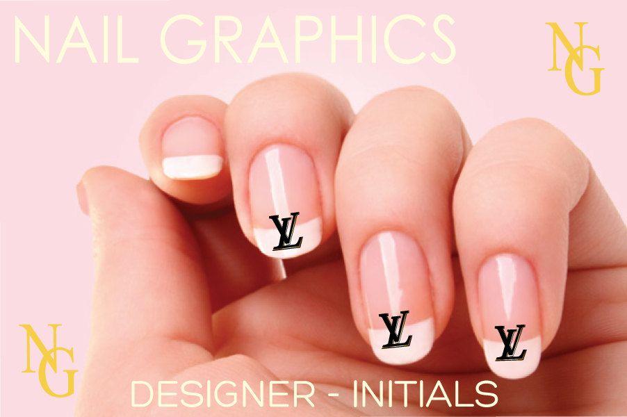 20 Louis Vuitton LV Nail Decals. $3.25, via Etsy. | Designer LOGO ...