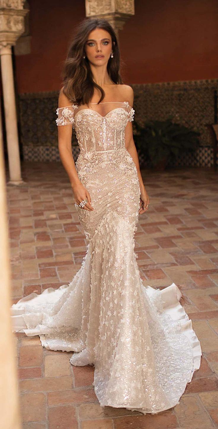 Sexy off the shoulder wedding dress | Berta Bridal #bertaweddingdress