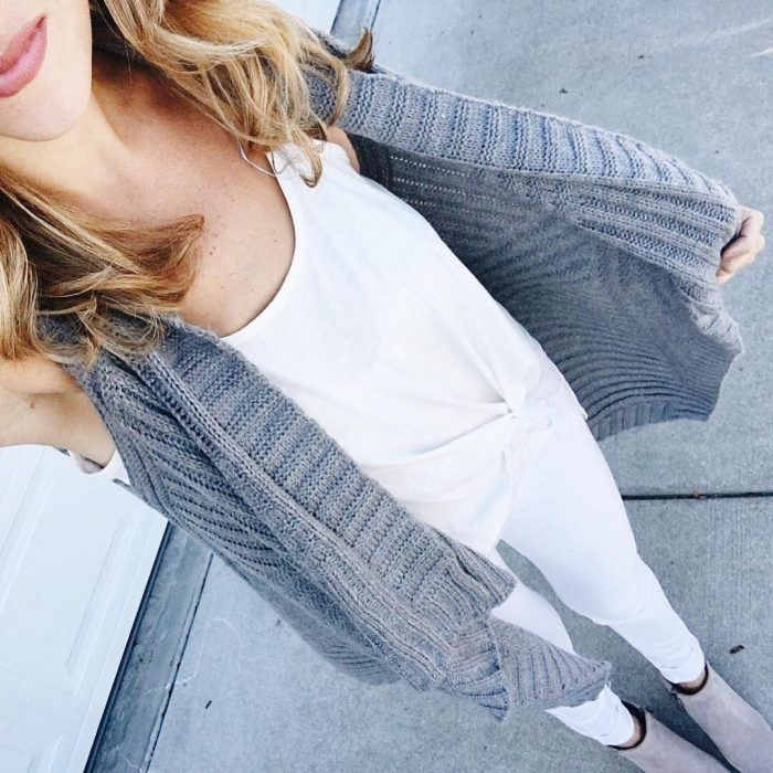 Who said you can't wear white after labor day? Fall transition style is so fun!