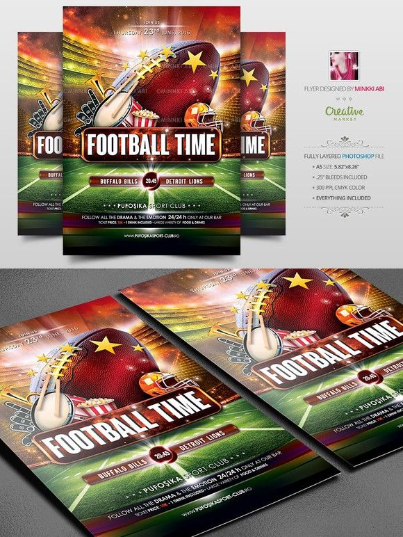 American Football Flyer Poster Flyers, American football and