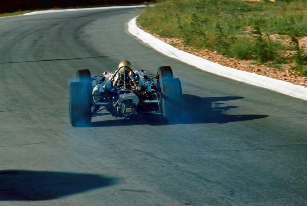 Powerslide . Kyalami , South African Grand Prix 1967. Jack ...