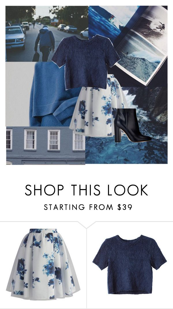 """Everything is blue"" by obrien91 ❤ liked on Polyvore featuring Chicwish, Monki and Gianvito Rossi"