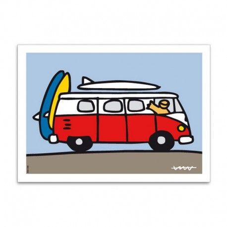 Alfombra cocina Volkswagen roja Kombi Campervan | Regalos