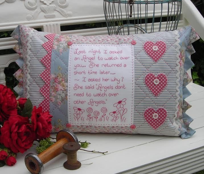 Quilting Sewing Cushion Pattern HEART FULL OF LOVE Sally Giblin Rivendale NEW