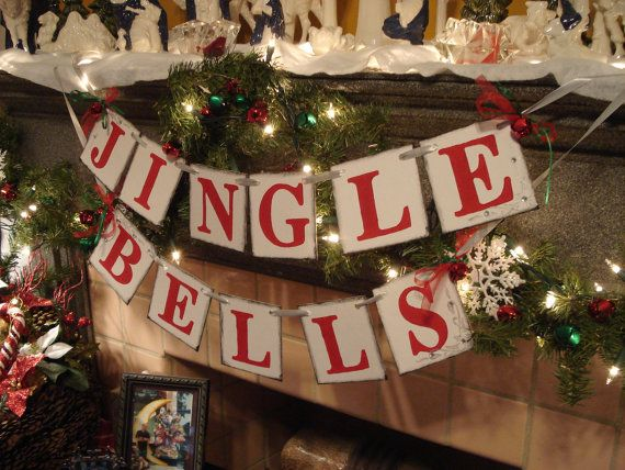 Christmas decorations - JINGLE BELLS Banner- Christmas Garland