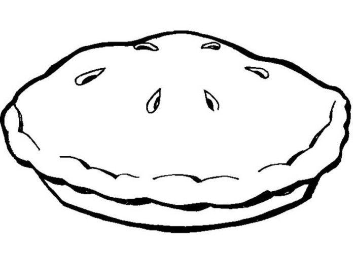 Pattern for Felt board for Bakery Unit. Delicious Pie Warm