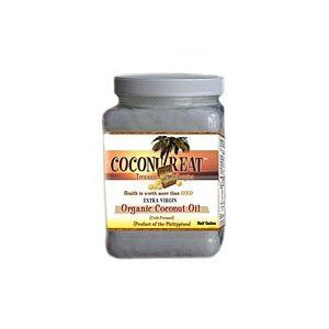 Coconutreat Certified Organic Extra Virgin Coconut Oil. FULL of healthy fats and many other health and beauty benefits. Add some to smoothies, use it to butter your bread, or simply eat it plain. Delicious and good for you!