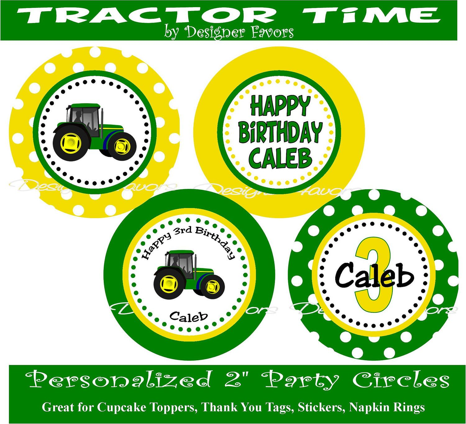 PRINTABLE DIY File John Deere Inspired Party Decorations