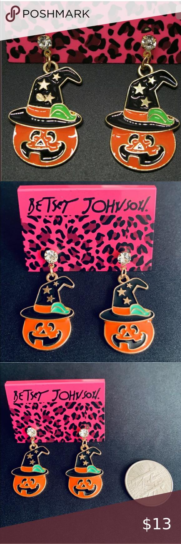 Betsey Johnson Pumpkin Earrings