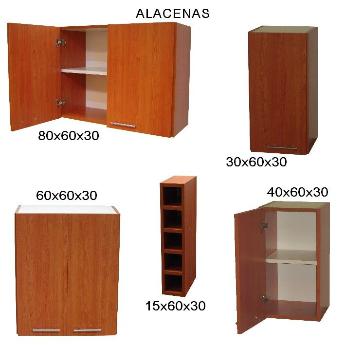 Plano de mueble de melamina proyecto 2 alacena de cocina for Proyecto de muebles de madera