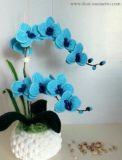 Crochet Orchid Flower Pattern Video Tutorial Easy Instructions ...