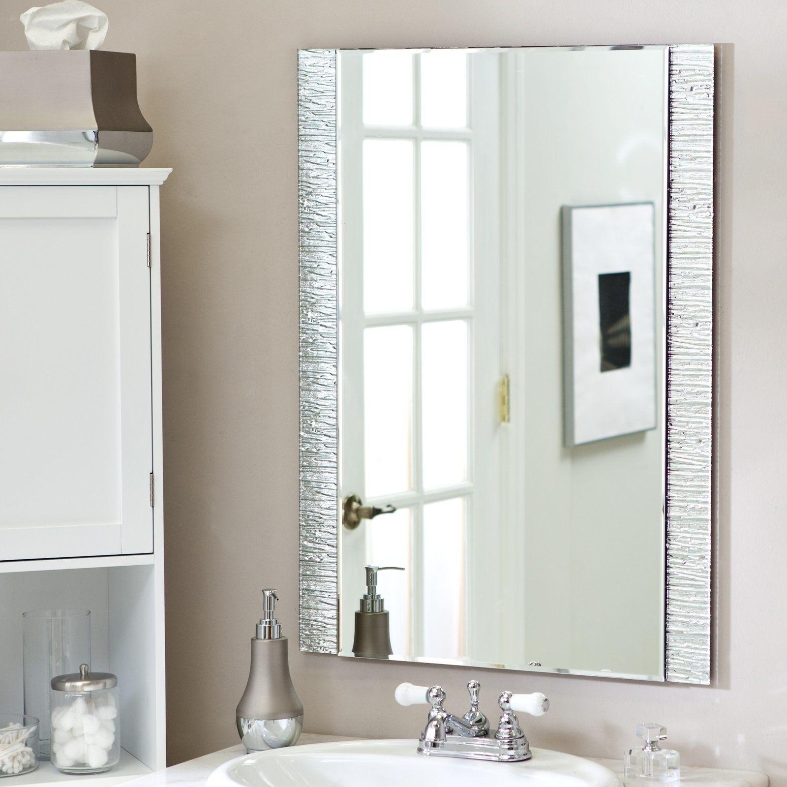 Frame Bathroom Mirror Without Glue | http://drrw.us | Pinterest ...