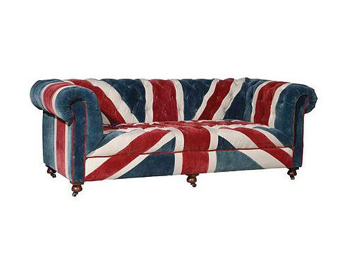 Union Jack Icon Sofa, Vintage England... for real Britons only!