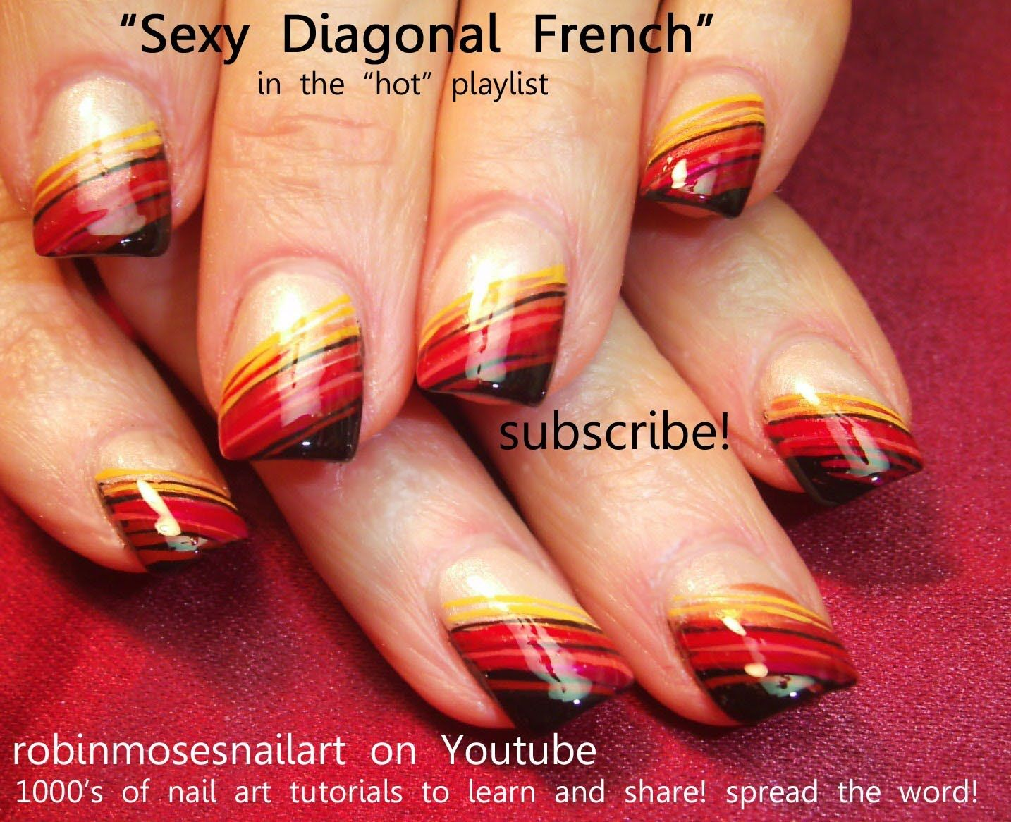 nail art diagonal ombre for fall | hot nail art pictures with