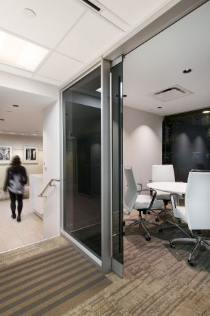 Interior design of the Vancouver office of Manulife Financial by