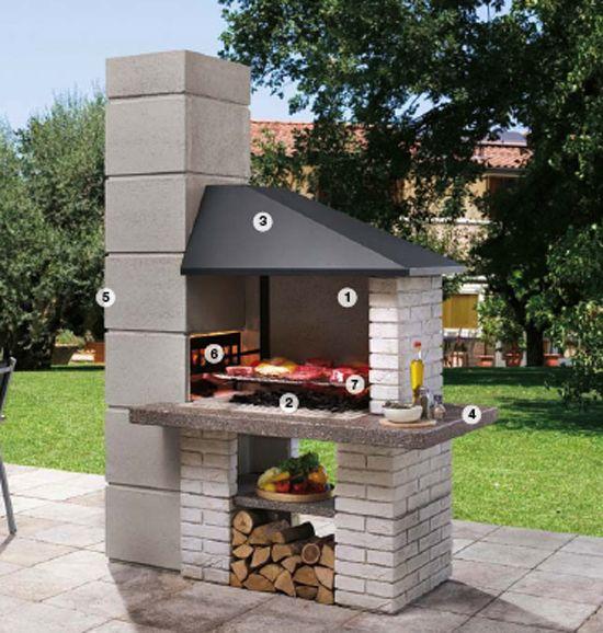 Barbecue extérieur par Palazzetti\u2013plaisir de griller en plein air - plan de travail pour barbecue exterieur
