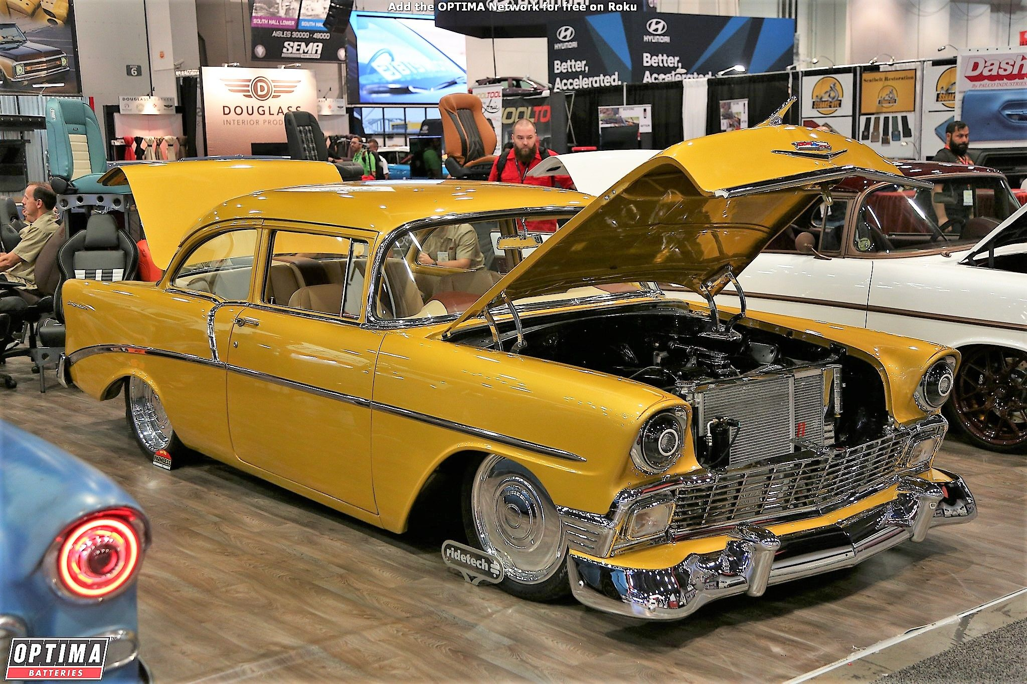 1955 Chevrolet Bel Air On Display At The 2017 Sema Show In Las