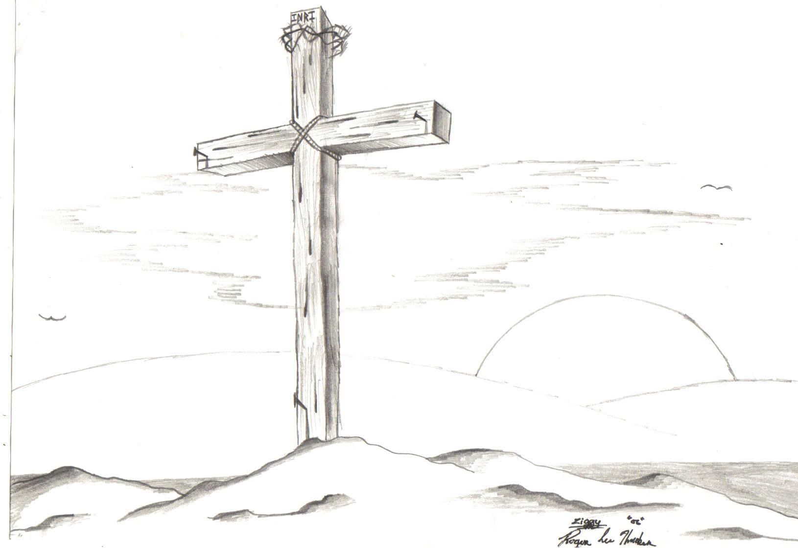 Cross And Empty Tomb Border Picture