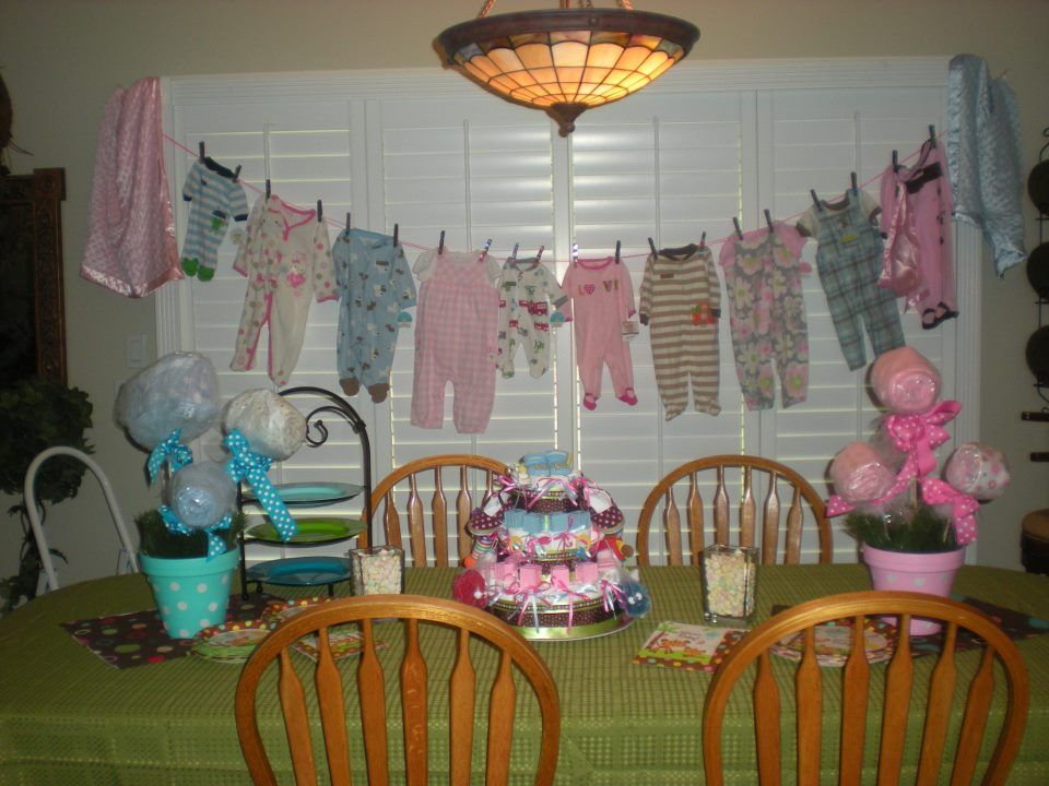 cute baby shower for twins- a boy and a girl | Baby shower ...
