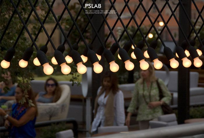 Pslab creates custom lighting concept for iris rooftop bar and restaurant in beirut beirut lebanon 2011