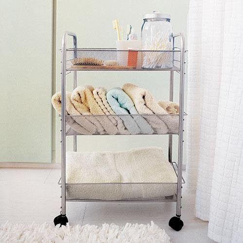 Mesh Rolling Cart By Design Ideas Kitchen Organization