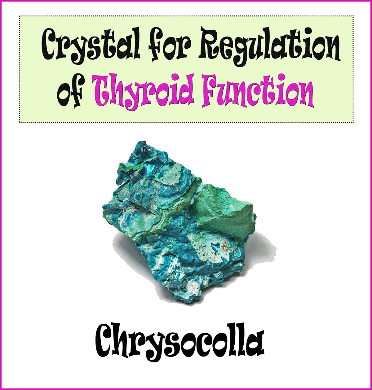 Thyroid Crystals Crystals Crystal Healing Gems And Minerals