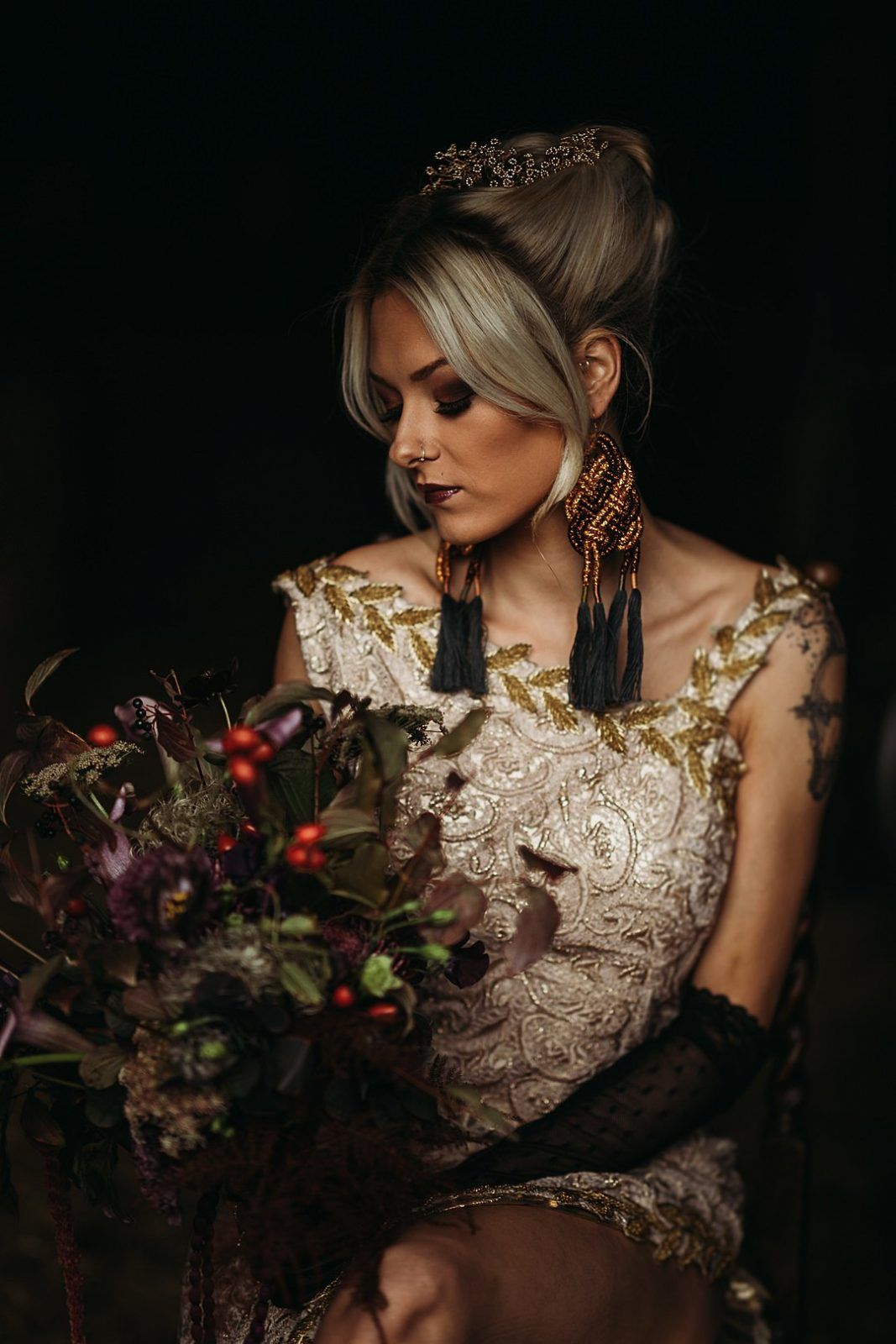 A Sustainable Halloween Wedding Shoot Wedding shoot