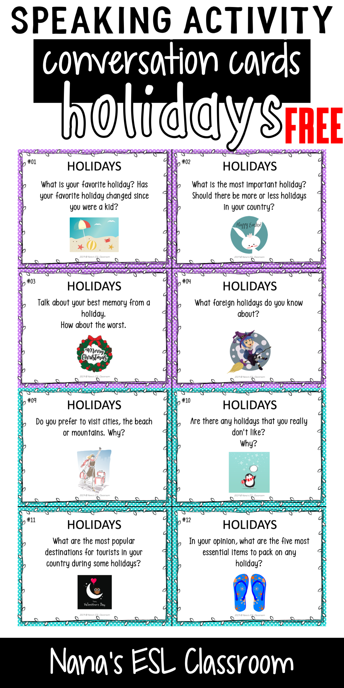 Conversation Starters About Holidays Free In