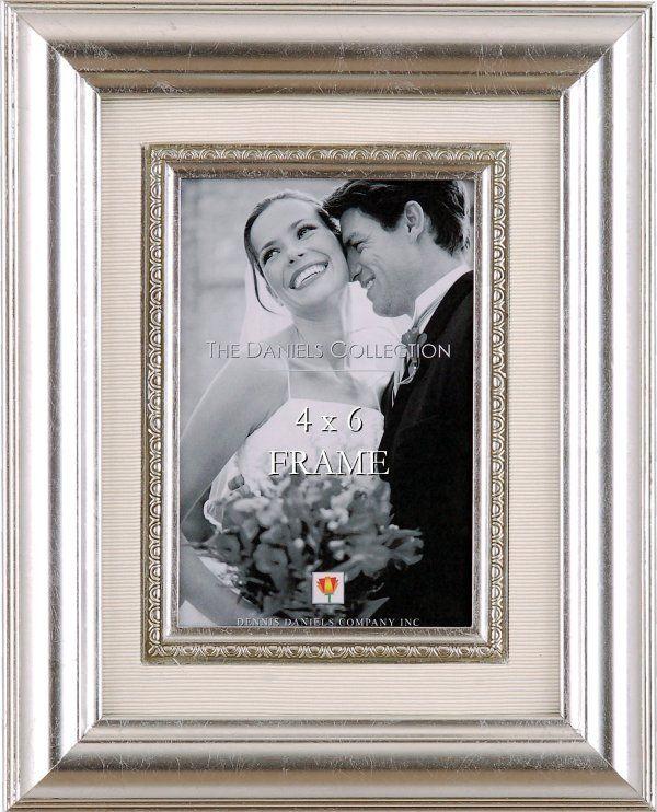 Decorative Silver Leaf Frame With Silk Mat With Images Frame Silver Leaf Wedding Frames