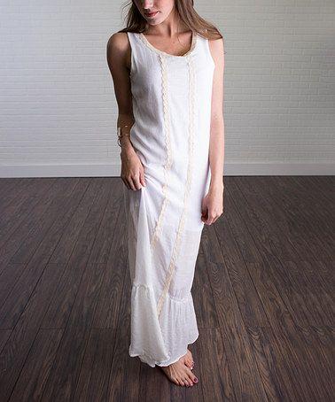 This White Chiffon Maxi Dress is perfect! #zulilyfinds
