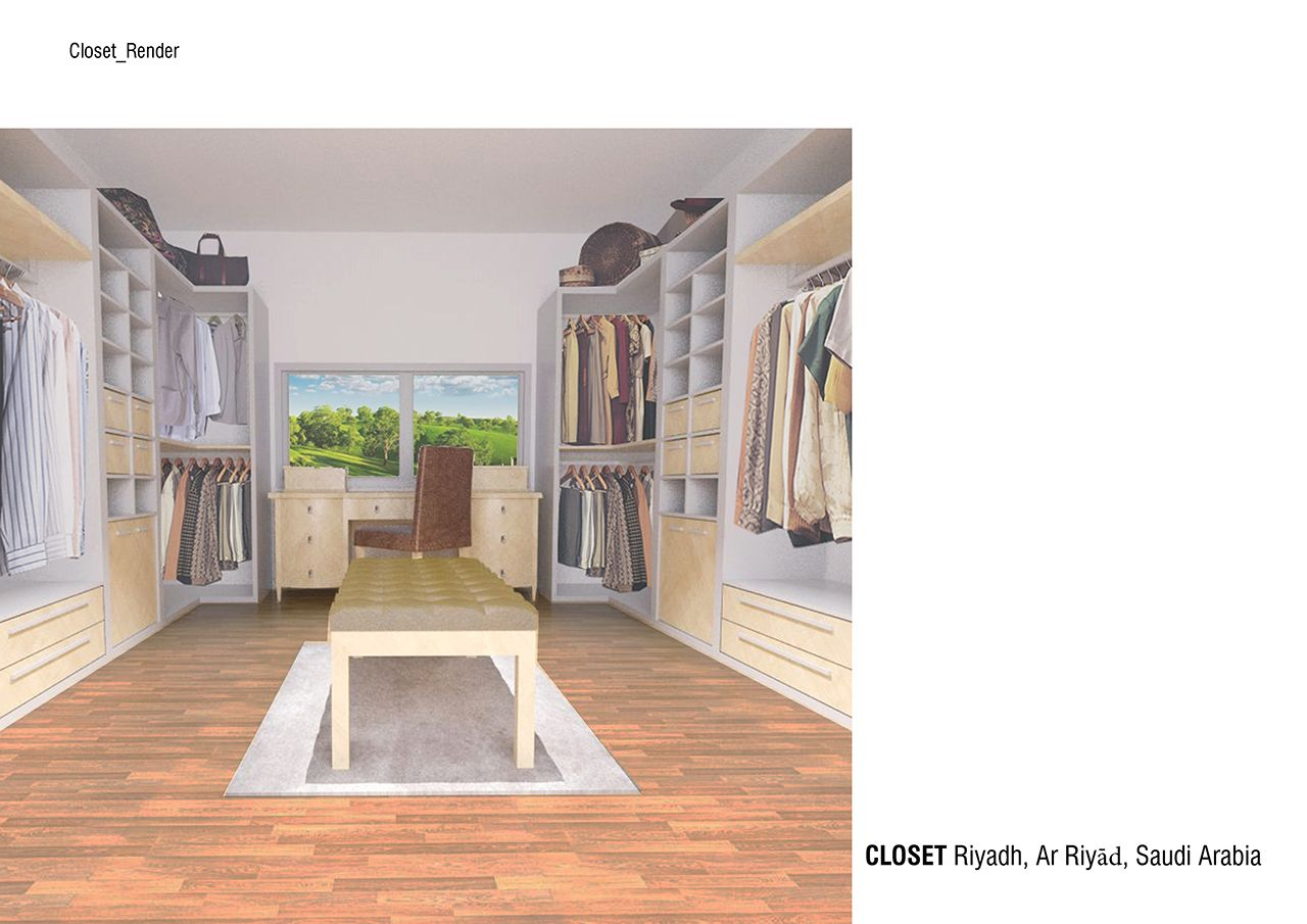 Progetto Design per Cabina armadio di Alvaro Llaveria Sanchezo