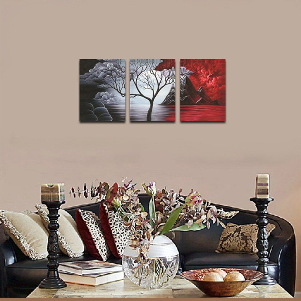 Wieco Art The Cloud Tree Wall Art Oil Paintings Giclee Landscape