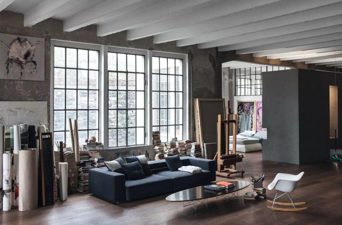 Industrial Artist Loft Close From Lake Como Loft Interior Design
