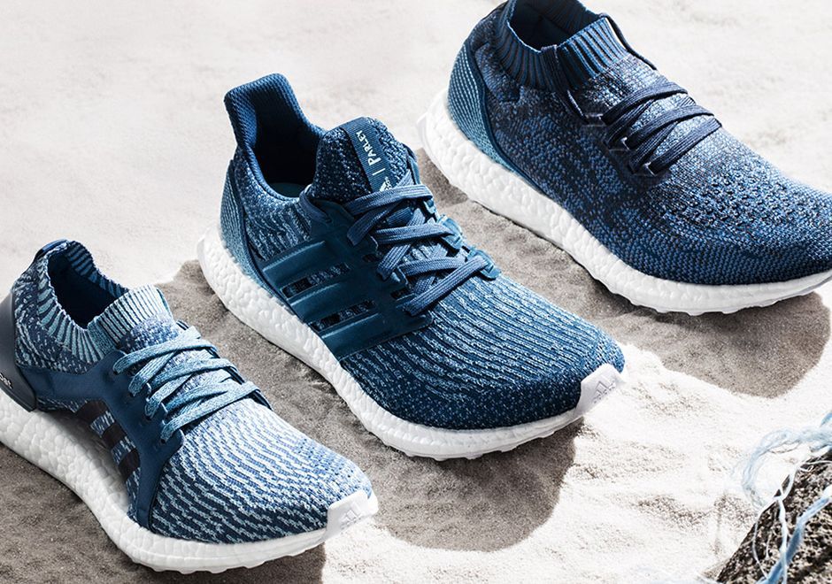 huge selection of 83fe4 1f1b5 ... The latest Parley adidas Ultra Boost Collection features the Ultra Boost,  Ultra Boost Uncaged, ...