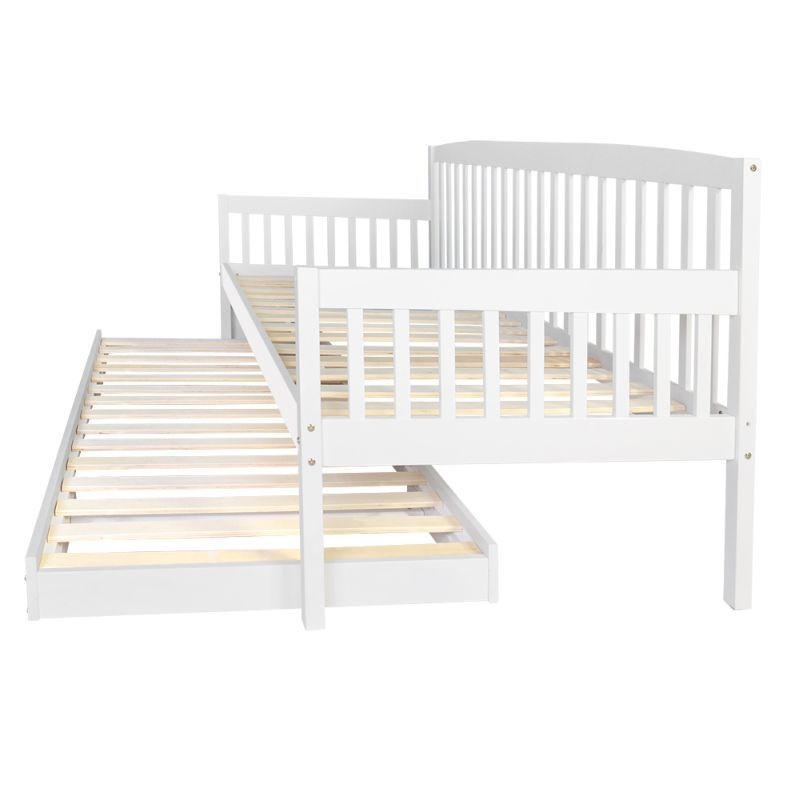 Wooden Sofa Day Bed Frame W Foldable Trundle White Wooden Sofa