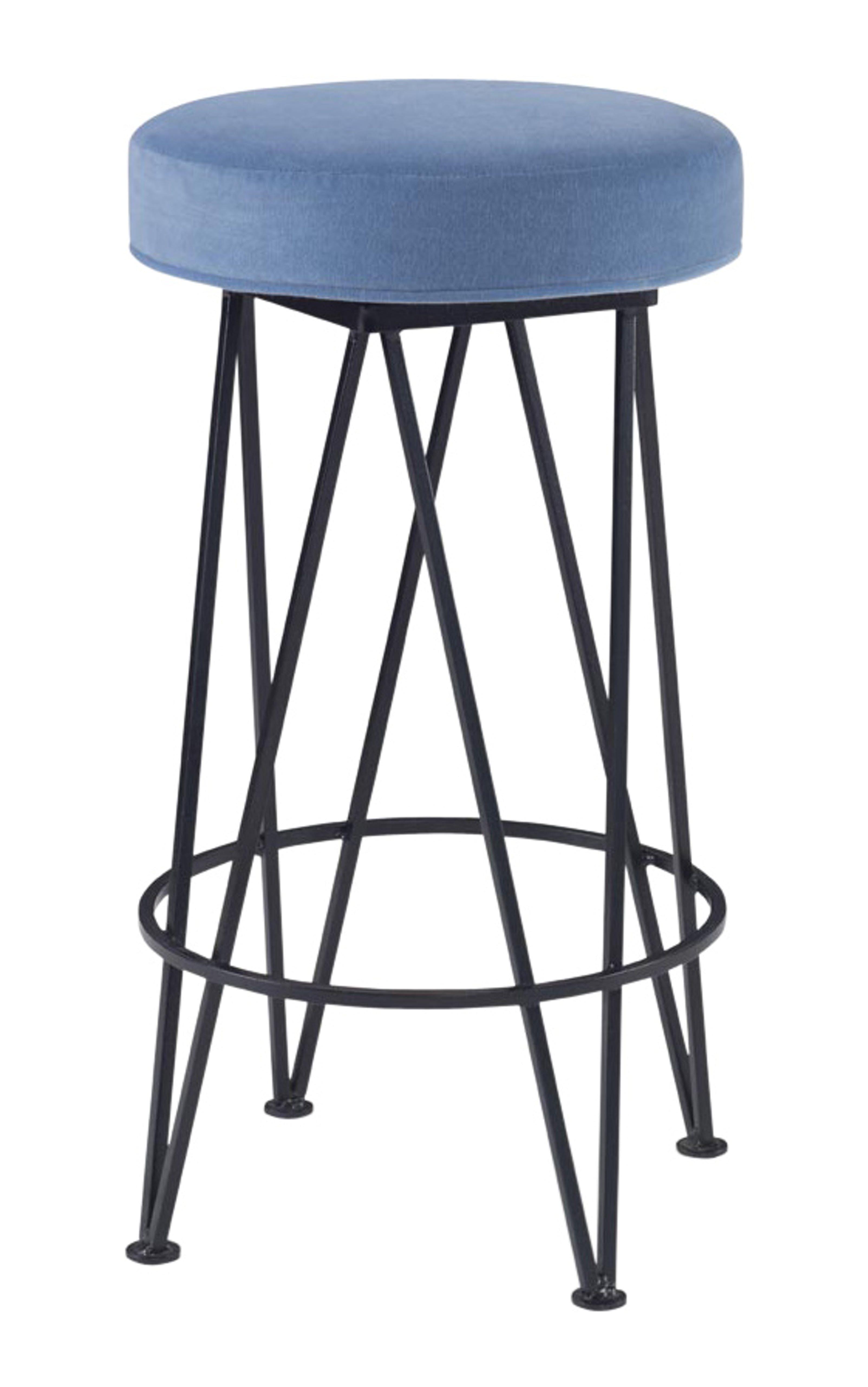 Mr Brown London 43782 Furniture Furniture Seating Stools Metal Upholstery  Fabric