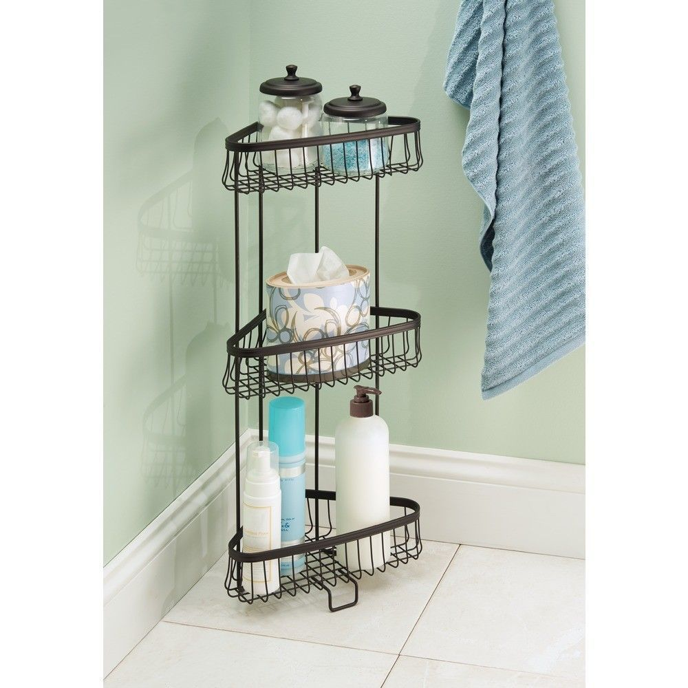 York Lyra Steel Free Standing Shower Shelf With Images Shower
